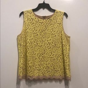 Ann Taylor yellow lace top